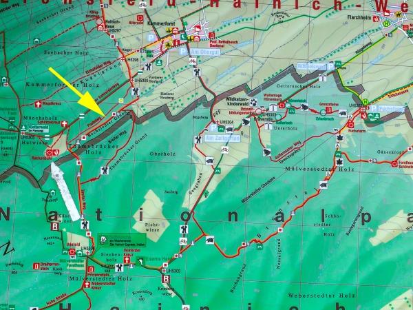 Karte der Umgebung von Kammerforst