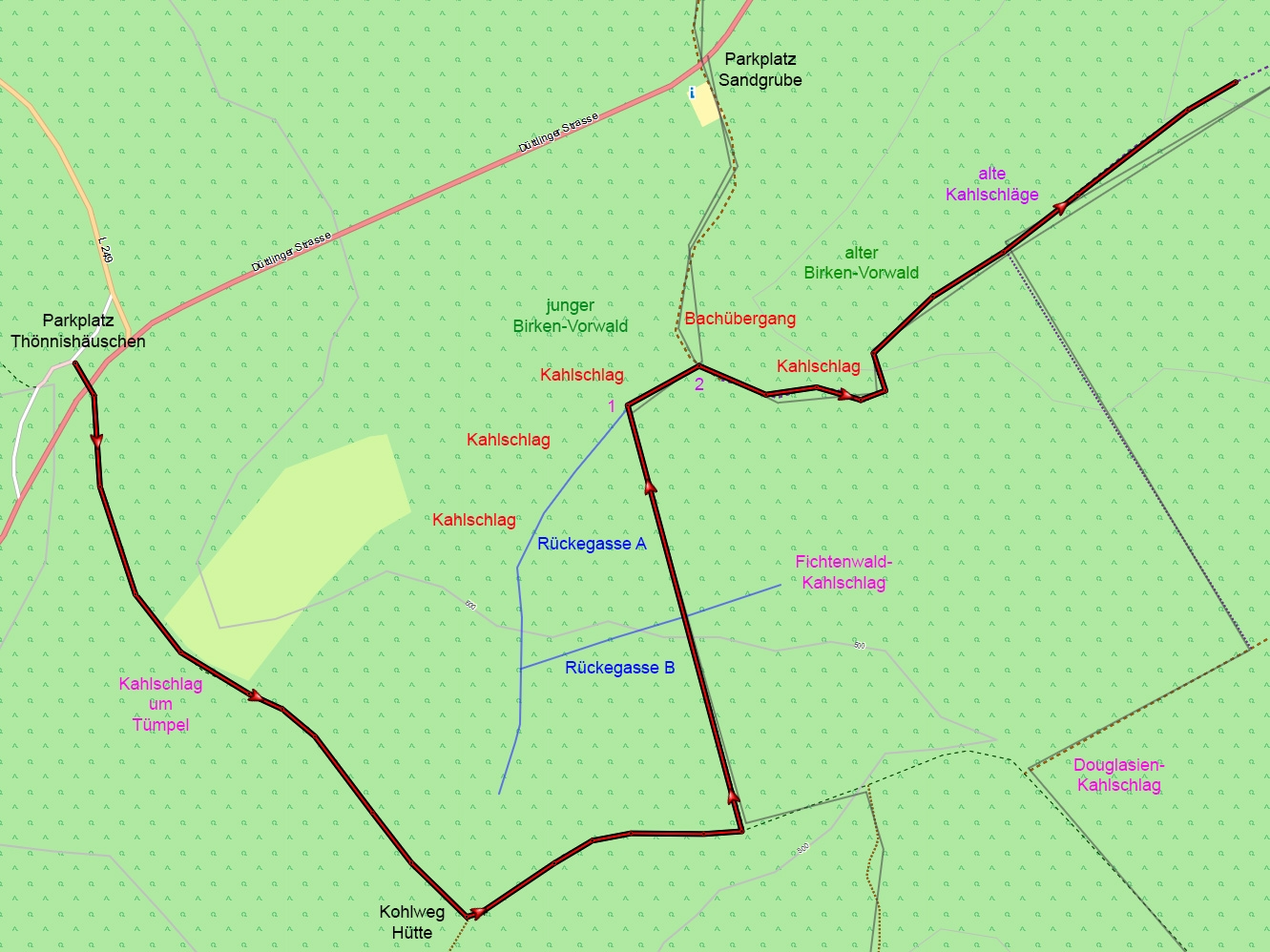 Bergerbach Lageskizze