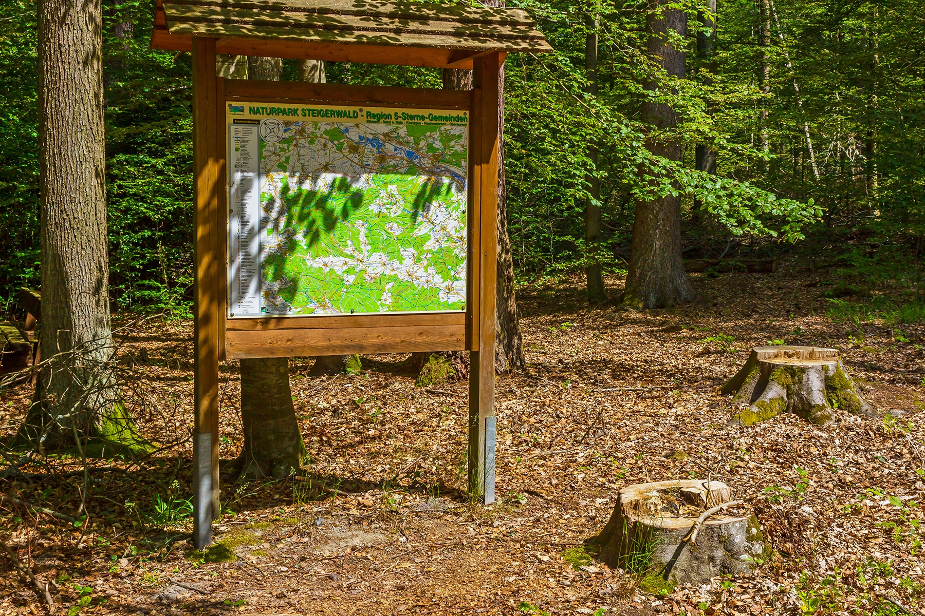 """Etikettenschwindel """"Natur""""park Steigerwald"""