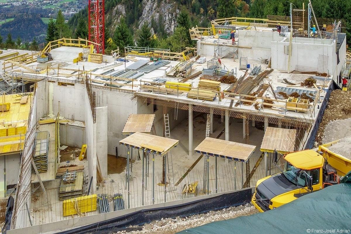 Neubau der Mittelstation der Jennerbahn