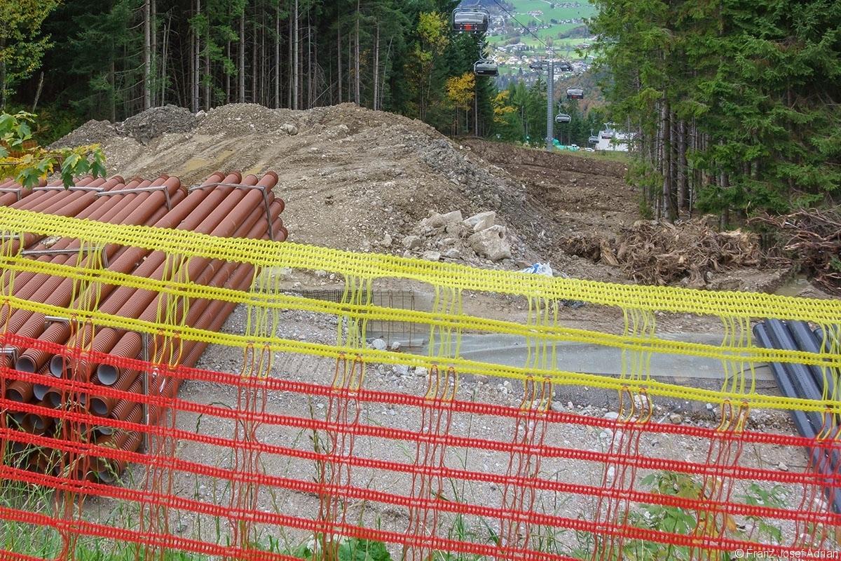 Baustelle an der Krautkaserbahn