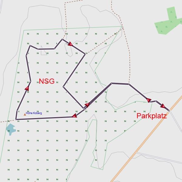 Karte der Rundwanderung
