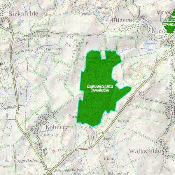 Karte des Naturschutzgebiets
