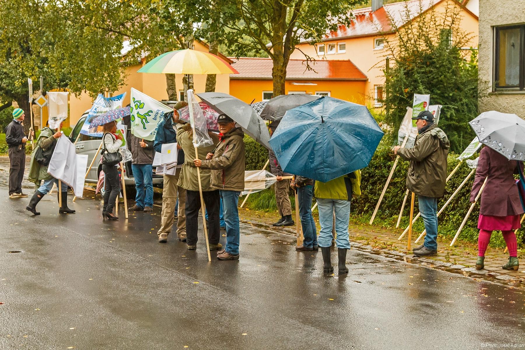 Beginn des Demonstrationszugs