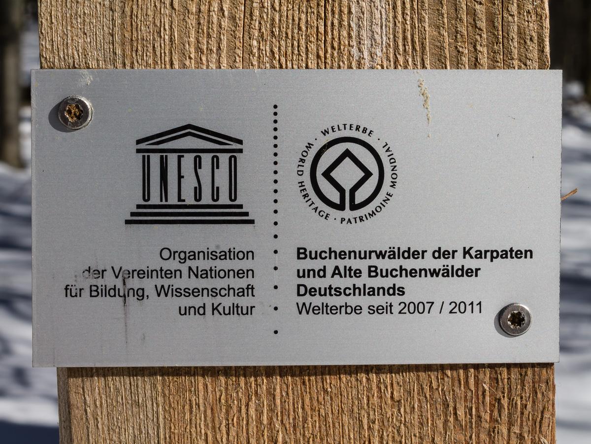 Schild UNESCO-Weltnaturerbe