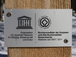 Schild UNESCO-Weltnaturerbe