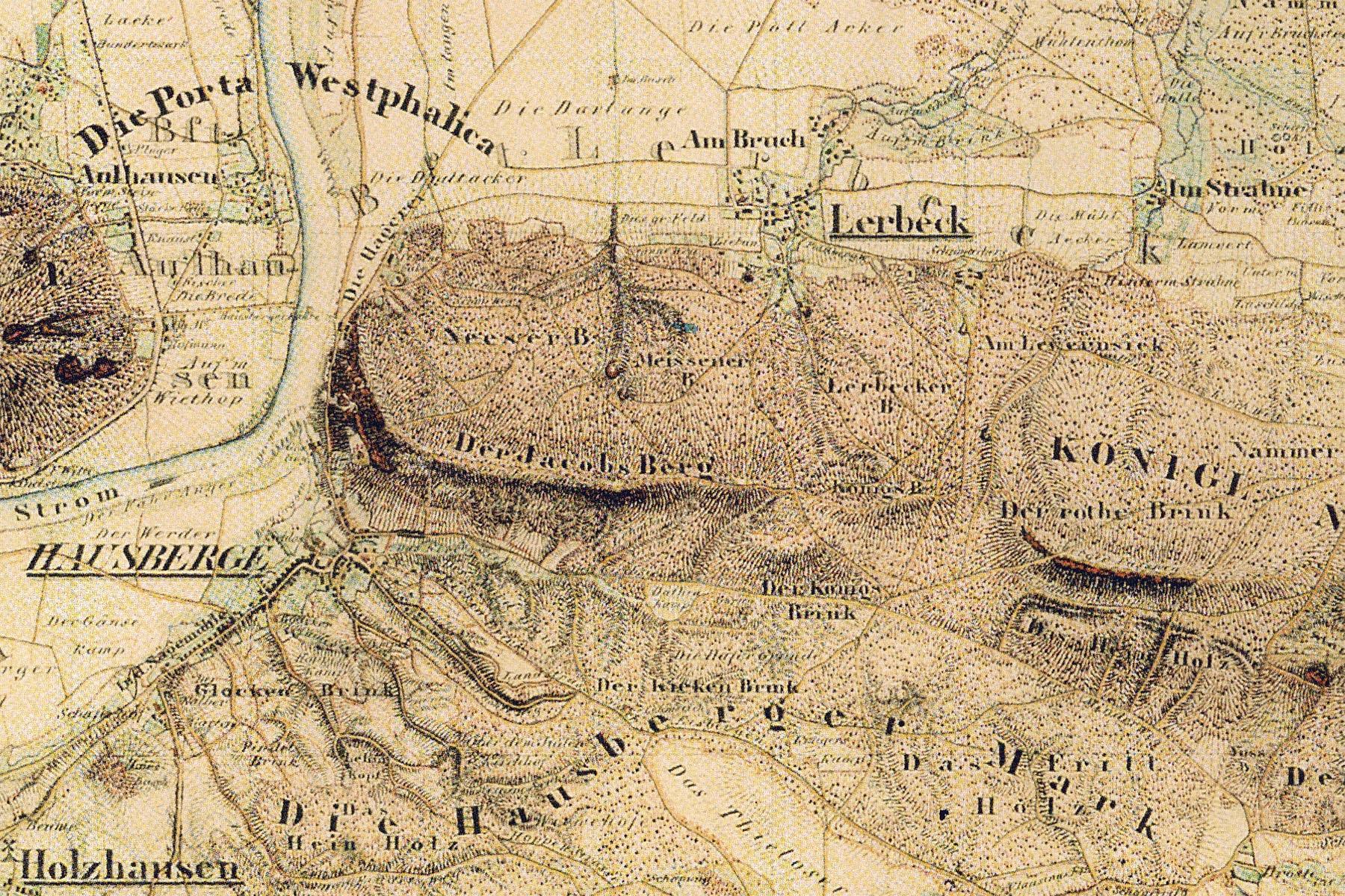 Preußische Uraufname von Porta Westfalica 1836-1850