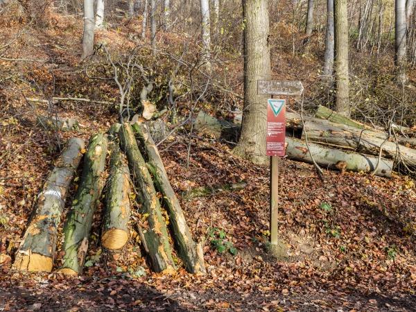 neues Schild zum Naturschutzgebiet