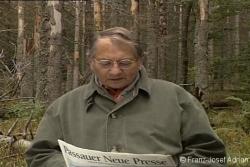 Horst Stern liest aus der Passauer Neuen Presse