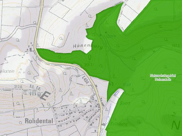 Hünenburg Karte