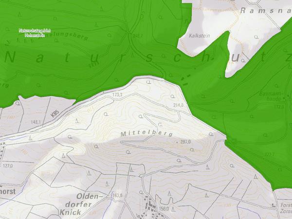 Mittelberg Kartenausschnitt