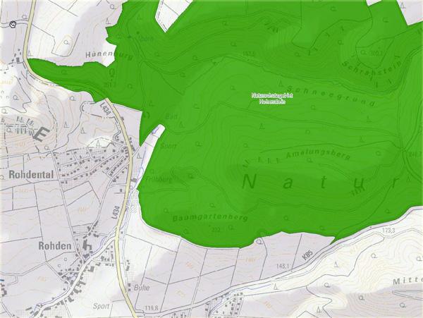 Amelungsberg Karte