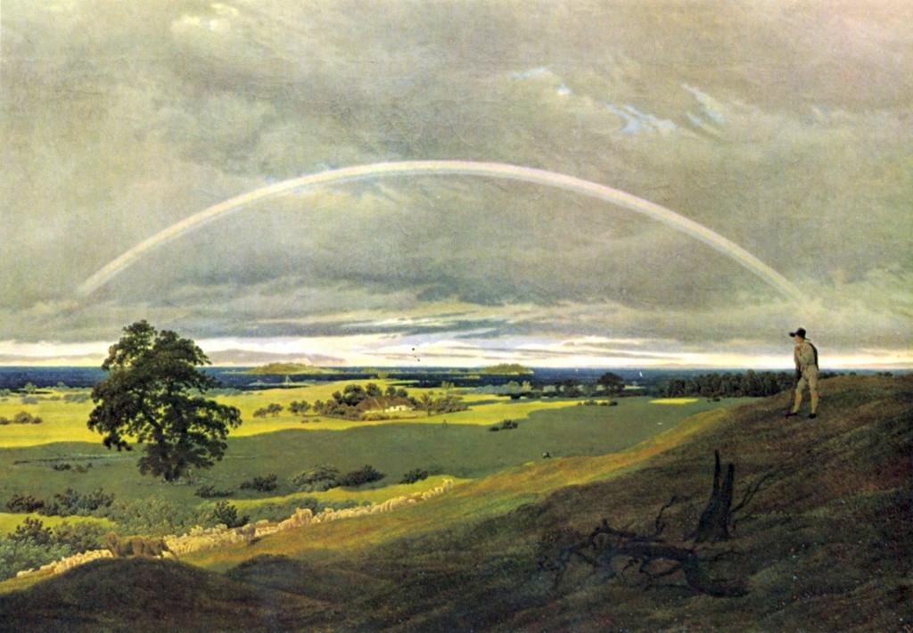 Caspar David Friedrich, Landschaft mit Regenbogen