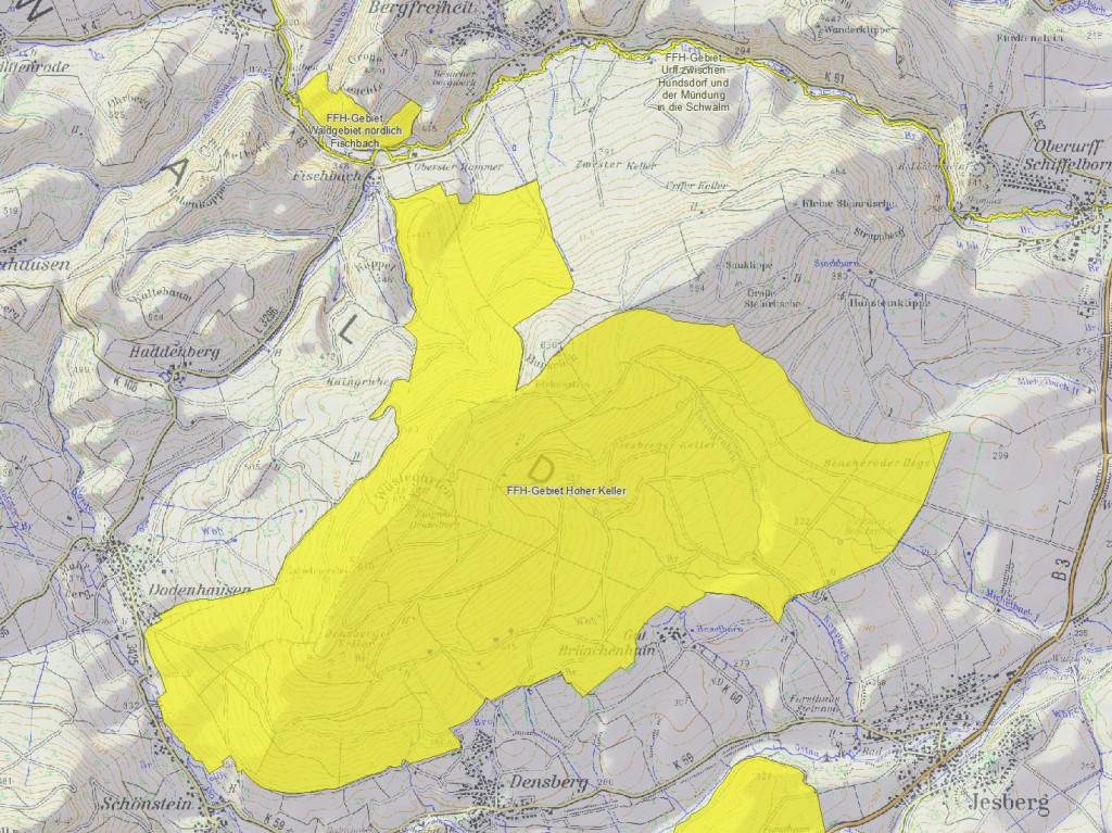 Karte Hoher Keller