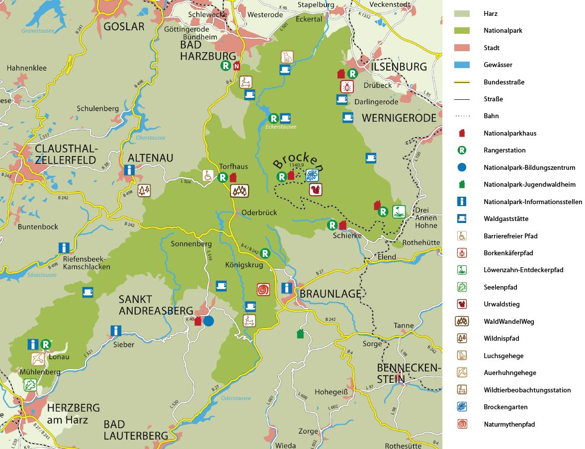 Nationalpark Eifel Karte.Nationalpark Harz Wälder In Deutschlandwälder In Deutschland