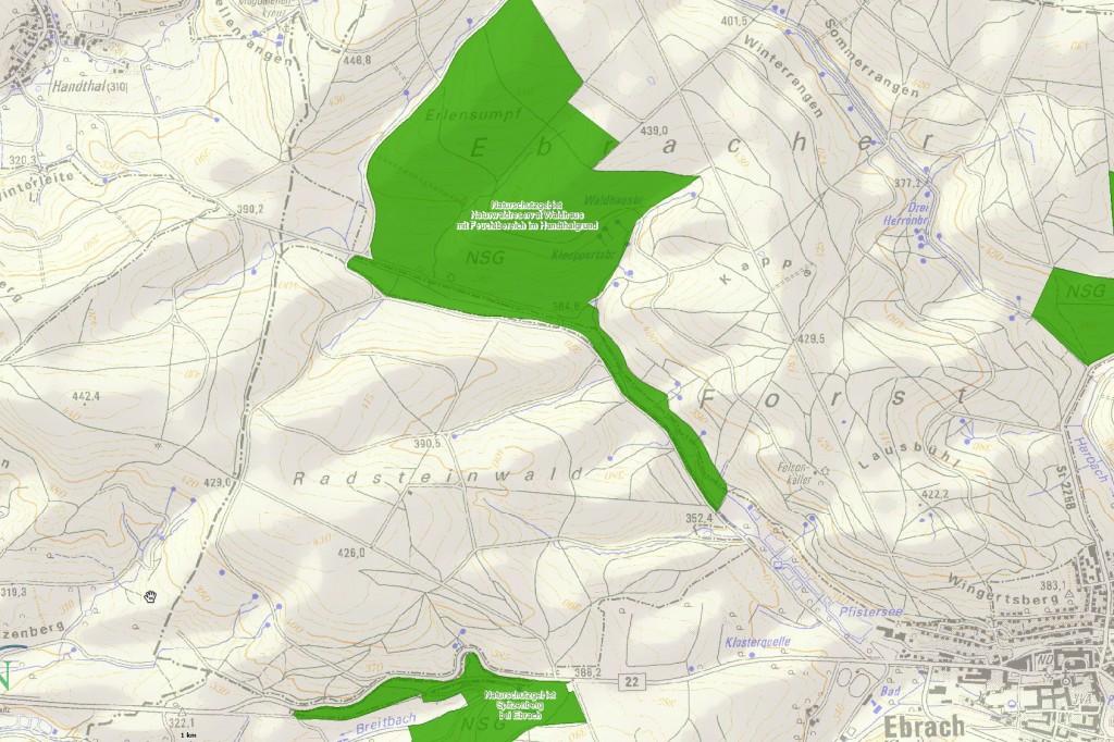 Karte Waldhaus