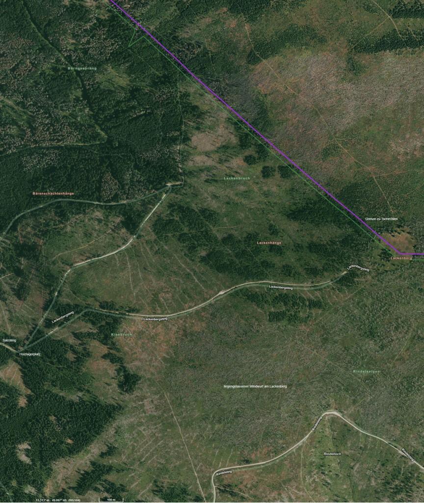 Satellitenbild vom Lackenberg
