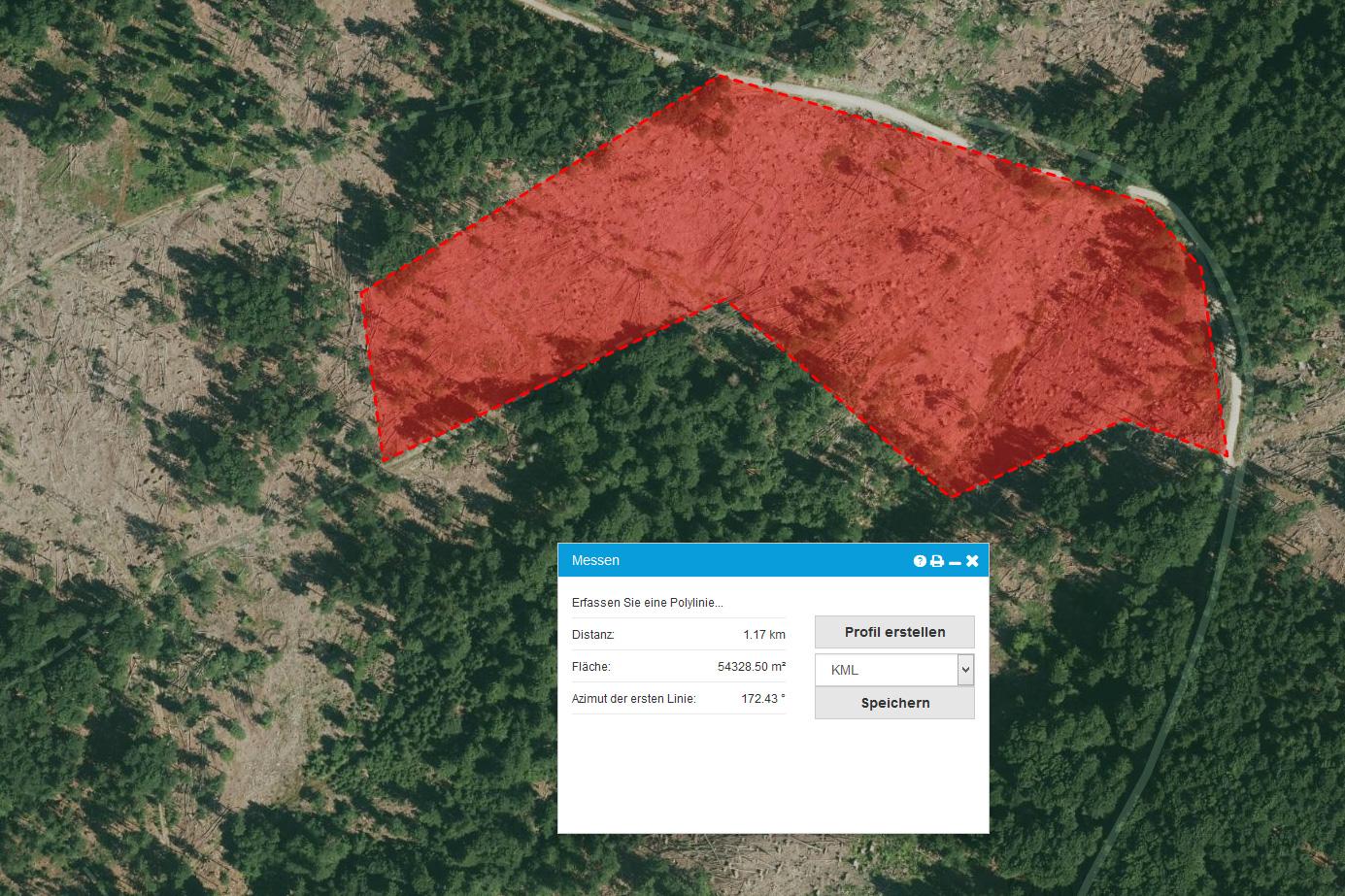 fläche messen google maps