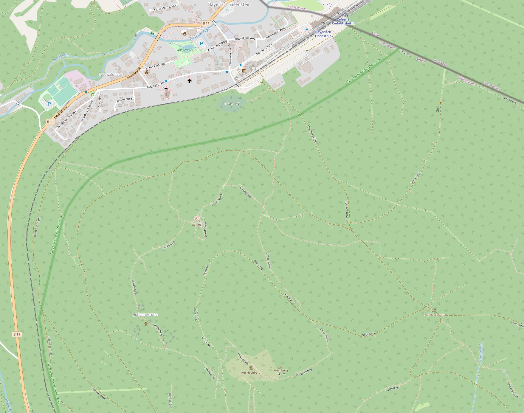 Karte Urwaldsteig